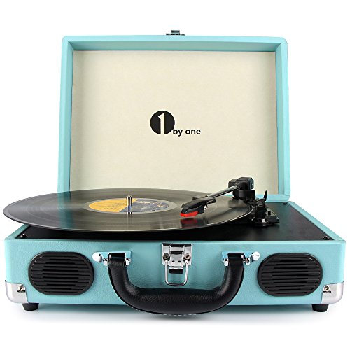 1byone-belt-drive-3-speed-portable-vinyl-turntable-with-built-in-speakers-supports-rca-output-headph