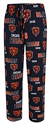 Chicago Bears NFL with Bears Logo Scatter Pattern Men's Pajama Pants