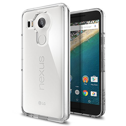 【Spigen】 Nexus 5X ケース ウルトラ・ハイブリッド [ 背面クリア ] Google LG Nexus 5X 用 (Nexus 5X, クリスタル・クリア 【SGP11759】)