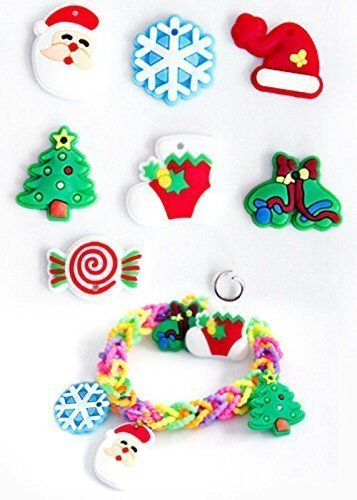 105 Christmas Loom Charms - Metal Clips Included in Separate Bag