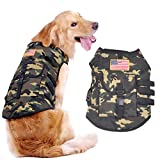 KINGMAS® Large Size Pet Dog Hound Saddle Clothes Travel Hiking Backpacks Police Dog US Flag Camouflage Vest (XL)