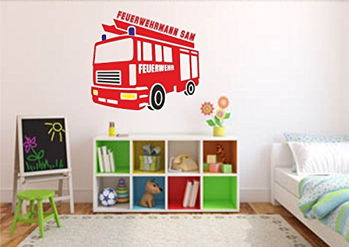 wandtattoo wandaufkleber feuerwehr wunschnamen. Black Bedroom Furniture Sets. Home Design Ideas