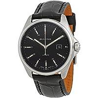 Glycine Combat 6 Black Dial Automatic Men's Leather Watch (3890.19.LBK9)
