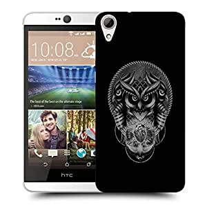 Snoogg Triple Face Owl With Heart Designer Protective Back Case Cover For HTC 826