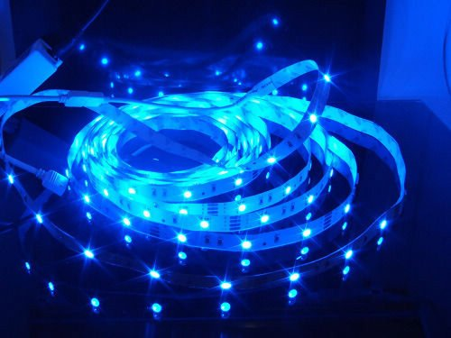 Happy Hours® Blue Dc 12 V Smd3528 120Leds/M 1-30 Meters Non-Waterproof Flexible Flat Led Strip Light Bar Rope Light - Perfect Decoration For Christmas Lighting, Indoor / Outdoor Rope Lighting, Ceiling Light, Kitchen Lighting, Accent Lighting,Emergency & S