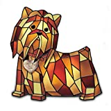 Louis Comfort Tiffany-Style Yorkshire Terrier Lamp: I Love My Yorkie by The Bradford Exchange