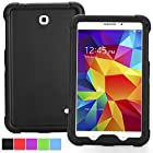Poetic Samsung Galaxy Tab 4 8.0 Case [TURTLE SKIN Series] - Rugged Silicone Case for Samsung Galaxy Tab 4 8.0 (SM-T330 / SM-T331 / SM-T335) Black (3-Year Manufacturer Warranty from Poetic)