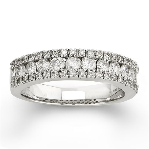 1 Carat Diamond Ring in 14K White Gold
