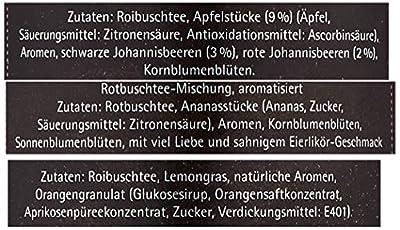 Hallingers Tee Mix Roibusch-Tee roter Wüstenzauber Set/Mix 3 x Premiumdose in Sicht-Box 3, 1er Pack (1 x 340 g) von Hallingers auf Gewürze Shop