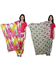 IndiWeaves Women's Cotton Patiala Salwar With Dupatta Combo (Pack Of 2 Salwar With Dupatta) - B01HRK05R8