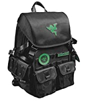"""Mobile Edge RZRBP17PROMO Razer 17"""" Tactical Gaming Pro Backpack with Free Mad Catz Wireless Gaming Headset"""