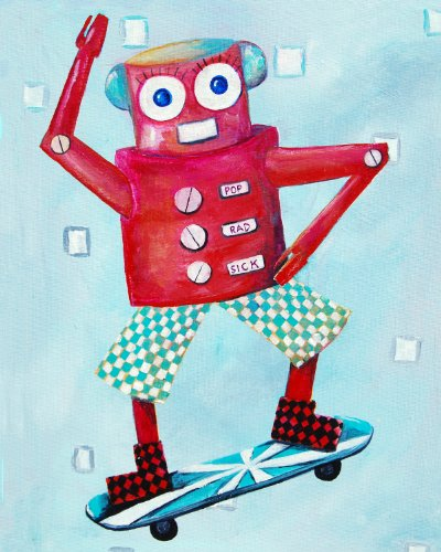 Cici Art Factory Wall Art, Switch Loves Skateboarding, Small