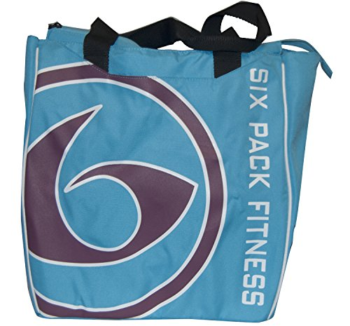 6 Pack Fitness Prodigy Camille Tote Blue/Maroon