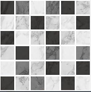 Piastrelle adesive mosaico effetto marmo per bagno o for Piastrelle adesive cucina