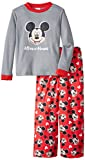 Mickey Mouse Little Boys' Two-Piece Mickey Mouse Thermal Shirt with Printed Pant Pajama Set