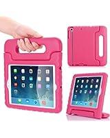 MoKo Etui Housse EVA Enfants Antichoc Protecteur Support Convertible avec Poignée de transport pour Etui Apple iPad Mini 3, 2 et 1, MAGENTA