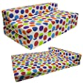 Gilda ® DOUBLE SOFABED - SPOTTY COTTON Fold Out Chair bed Guest Z Sofa bed Futon folding Mattress