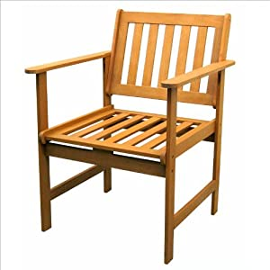 "Royal Tahiti Gulf Port Arm Chair - Set of 2 (Stain) (34""H x 26""W x 24""D) from International Caravan"