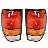 1994-2000 Mazda B-Series B4000 B3000 B2500 B2300 Pickup Truck Taillight Taillamp Rear Brake Tail Light Lamp Set Pair Right Passenger And Left Driver Side (1994 94 1995 95 1996 96 1997 97 1998 98 1999 99 2000 00)