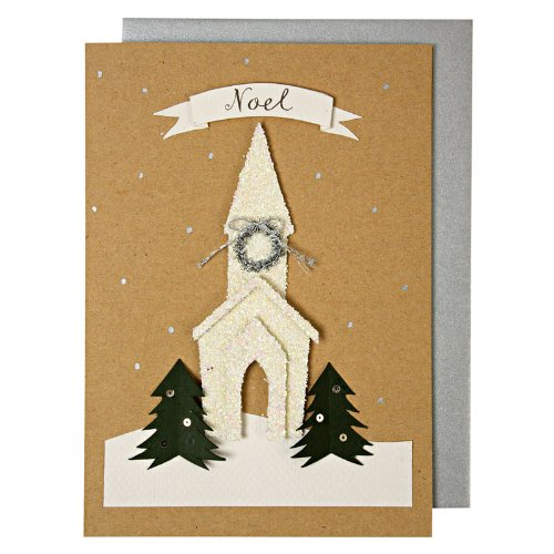 Noel White Church Card