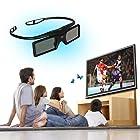 2-PACK Universal Bluetooth 3D Active Shutter Glasses for Panasonic TC-L55WT50 TC-P65VT50 TC-L55DT50 TC-L55ET5 TC-P55UT50 TC-P65ST50 TC-P60GT50 TC-P60UT50 TC-P60ST50 TC-P65GT50 TC-P42UT50 TX-P50ST50B - Black