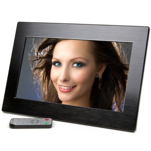 Micca 10.1-Inch Wide Screen High Resolution Digital Photo Frame with Auto On/Off Timer (Black) (2015 Model)