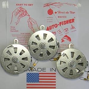 3 White's Auto Fisher Yo Yo Automatic Fishing Reel - Package of 3 YoYos - Yo Yo Fish Trap from Mechanical Fisher