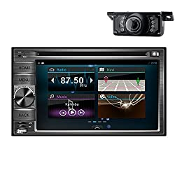 See 6.2-Inch TFT Car Stereo 2.0 DIN MultiMedia Receiver with Built-In Bluetooth and Mic/USB/App Control Android 4.2 Double Din In Dash Capacitive HD Multi-touch Screen Car DVD Player GPS Navigation Stereo AM/FM Radio Support Bluetooth/SD/USB/ipod/AV-IN/3G/Wif Details