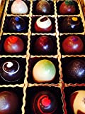 Deluxe 15 Piece GIANT Hand-Painted Artisan Chocolate Truffles Gift Box