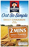 Quaker Oatso Simple Sweet Cinnamon Porridge 330 g (Pack of 6)