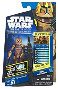 Star Wars 2011 Clone Wars Animated Action Figure CW No. 38 Clone Commander Jet by Hasbro Toys