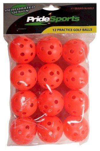 Pro Practice Golf Balls 12-pack (Orange Wiffle Style)