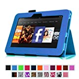 """Fintie Kindle Fire HD 7"""" (2012 Old Model) Slim Fit Leather Case with Auto Sleep/Wake Feature (will only fit Amazon Kindle Fire HD 7, Previous Generation - 2nd), Blue"""