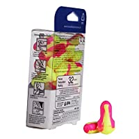 Leight Sleepers Earplugs, Cordless, Foam, Pink/Yellow, 60 Pairs/Box, Sold as One Box
