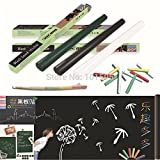 Skuleer(TM)Vinyl Chalkboard Wall Stickers Removable Blackboard Decals Great Gift for Kids 45CMx200CM with 5 Free Chalks