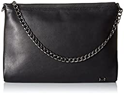 Halston Heritage Large Convertible B Clutch, Black, One Size