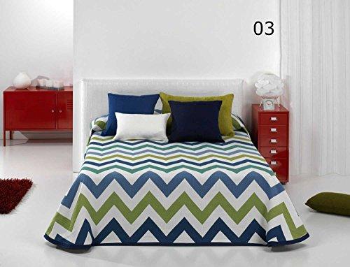 Colcha Poke Azul para cama de 105