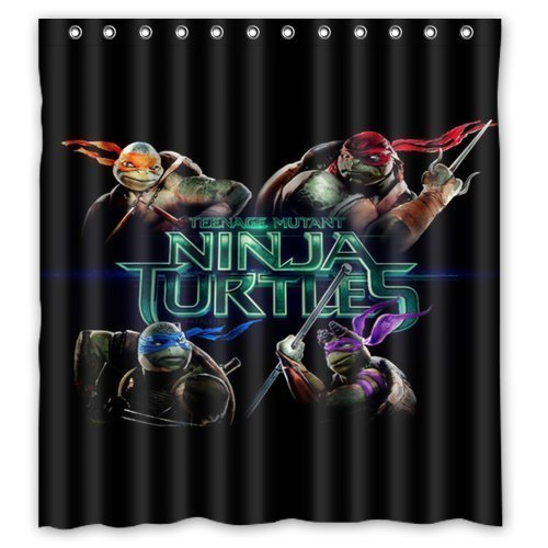 Jane Teenage Mutant Ninja Turtles Pattern Custom Waterproof Polyester Fabric Bathroom Shower Curtain With Hooks Bathroom Decor 66x72inch