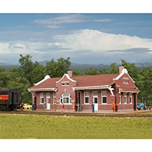 "Walthers Cornerstone Series&#174 N Scale Santa Fe-Style Brick Depot 6-3/4 x 3-7/8 x 2-1/4"" at Sears.com"