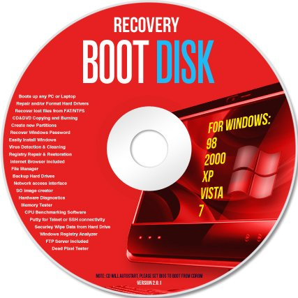 Ultimate Boot Cd / Disc Recovery Repair DOS Windows