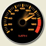 Speedometer Drive Absorbent Stone Auto Car Boat Coaster (Color: Black)