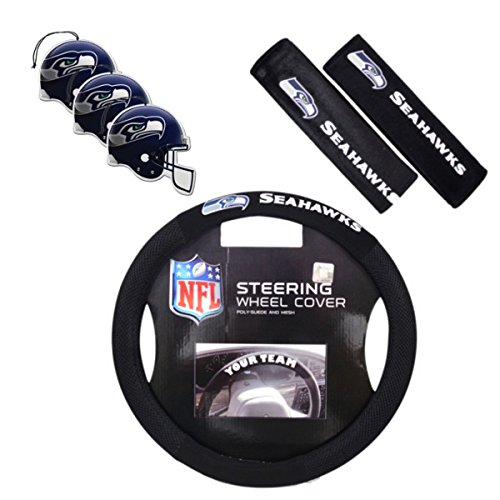 Official National Football League Fan Shop Authentic Auto Accessories Bundle (Seattle Seahawks) (Car Seat Covers Seahawks compare prices)