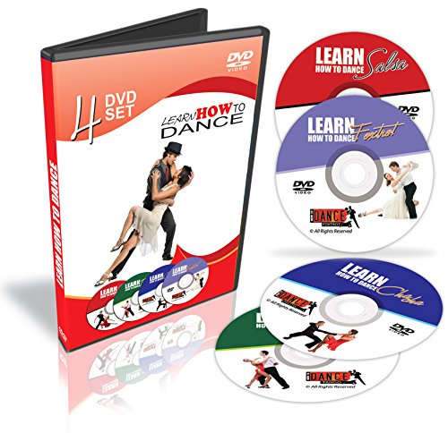 Learn How to Dance - Salsa, Tango, Foxtrot & Cha Cha - 4 DVD Set (Learn Salsa Dvd compare prices)