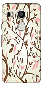 Snoogg Vector Seamless Pattern With Spring Branches Designer Protective Back ...