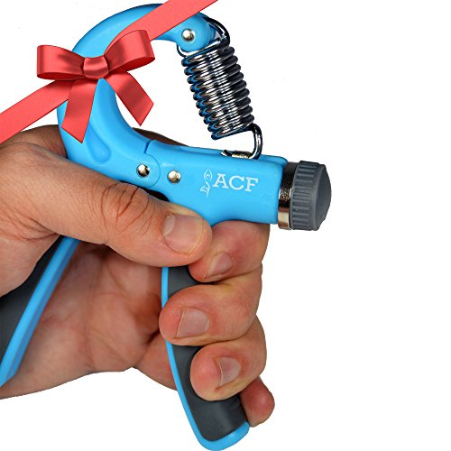 ACF Hand Grip Strengthener Strength Trainer Adjustable Resistance 22-88 Lbs Best Hand Exerciser Gripper or Ball Set (Conditioning For Kids compare prices)