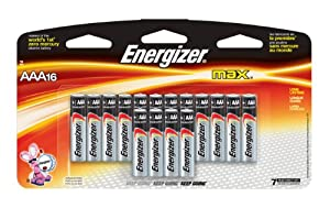 Energizer Max AAA Batteries, 16-Count