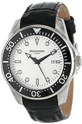 Rudiger Men's R2000-04-001L Chemnitz Black IP Silver Luminous Dial Watch