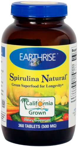 Earthrise  Spirulina Natural, 360 Tabs
