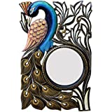 Divraya Wood Peacock Wall Mirror (30.48 Cm X 4 Cm X 45.72 Cm, DA137)