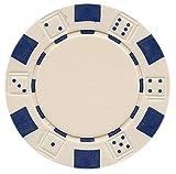 Da Vinci 50 Clay Composite Dice Striped 11.5-Gram Poker Chips (White)